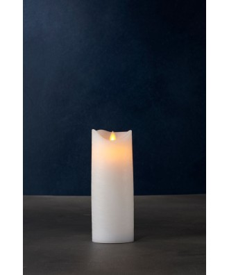 LED BOUGIE blanche 7.5xH25cm