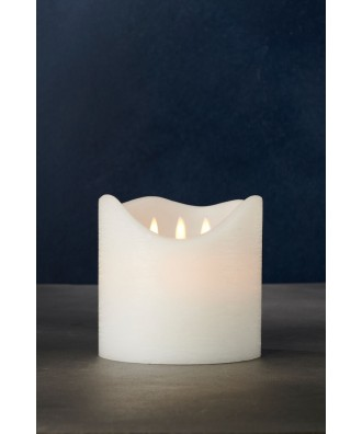 Bougie LED blanche en cire...