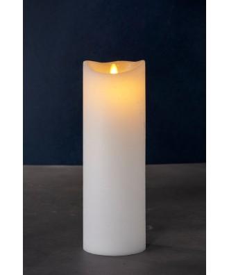 LED BOUGIE blanche 10xH30cm