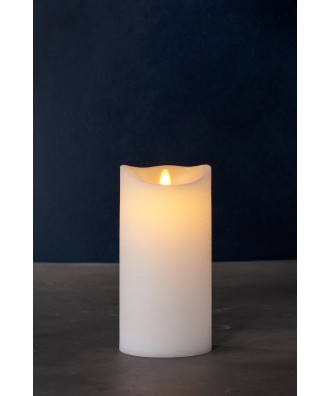 LED BOUGIE blanche 10xH20cm