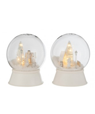 BOULE NEIGE LED VERRE DECOR...